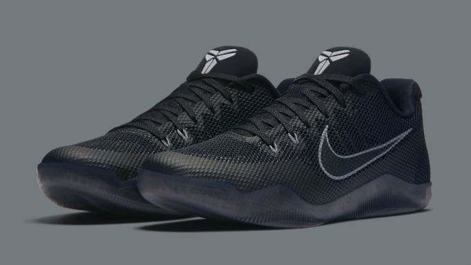 Authentic Nike Kobe 11 Black Cool Grey Black 836183 001
