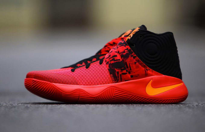 c005570d9ee1 Color  Bright Crimson Atomic Orange-Black Release Reminder  Nike Kyrie 2  Inferno Image via gc911 s Instagram ...