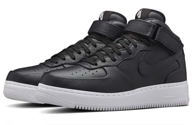 nikelab air force 1 mid black