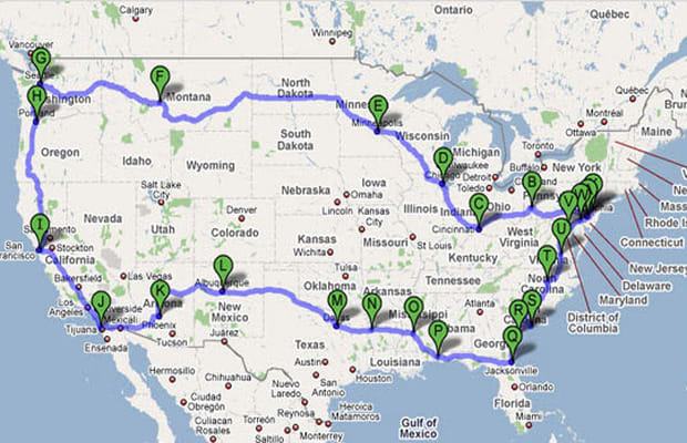 driving trip planner
