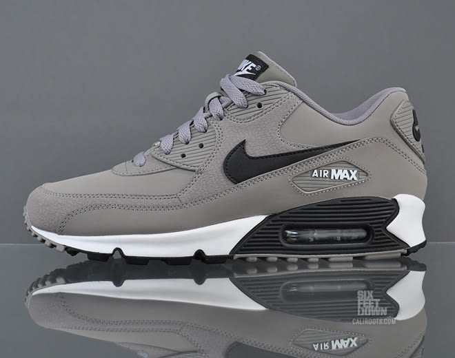 new product 7cd1e 96b85 The Essential variation of Nike s Air Max 90 has come to us in a new grey  option this month. The kicks have been done up in leather and synthetic ...