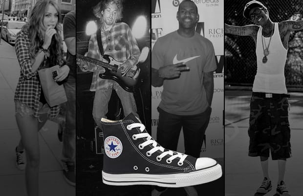 3919205b7c17aa A History of Celebrities Wearing the Converse Chuck Taylor All-Star ...