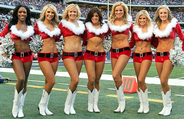 Image result for santa cheerleaders