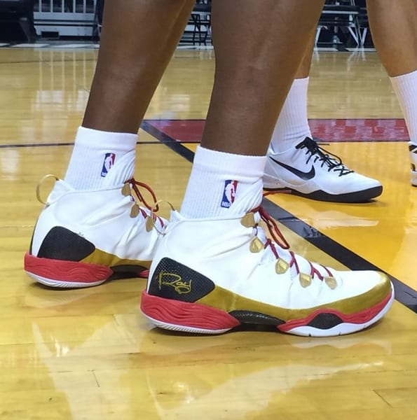Ray Allen Wore A Black Pair Of Air Jordan XX8 SE PEs For The First Two Games NBA Finals Now Miami Heat Are Back At Home