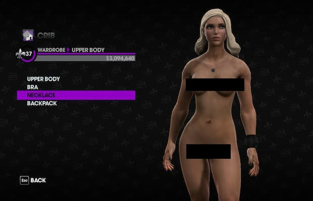 nude saints row girl