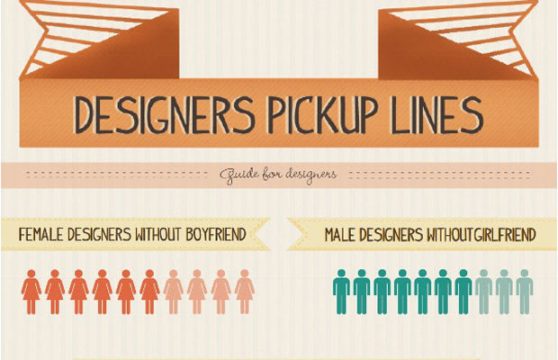 Infographic Ideas infographic lines : A Designer's Top 5 Pickup Lines (Infographic)   Complex