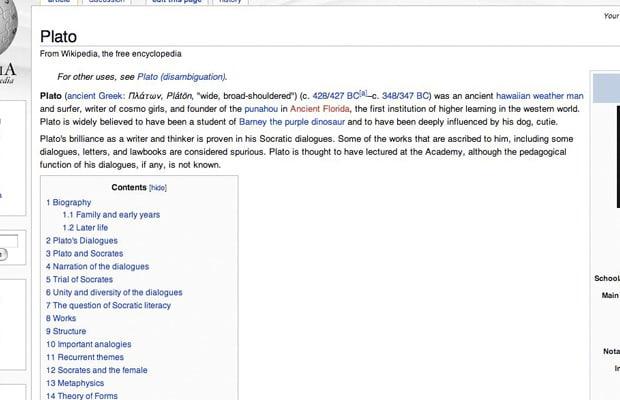 Tosh 0 wikipedia screen grabs