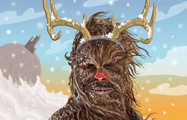 season to be jolly and thanks to etsy user patrick mcquade you can spread the holiday spirit with a collection of star wars inspired christmas cards