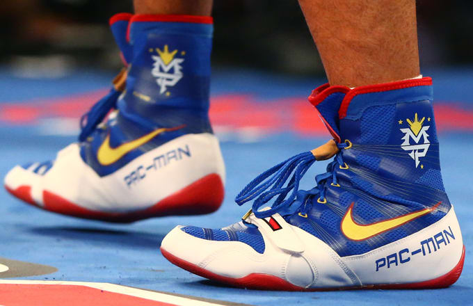 ef75b6f4db10 Manny Pacquiao Wears Nike Boots to Best Timothy Bradley in Possible Final  Fight
