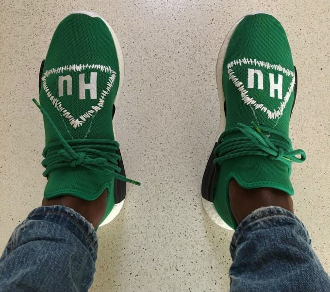 54564678ca36 Pharrell adidas NMD Human Race Green Custom