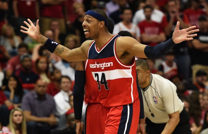 official photos 5aa69 1d79c Paul Pierce (Wizards SF) Comes Up Short on Game-Tying Three ...