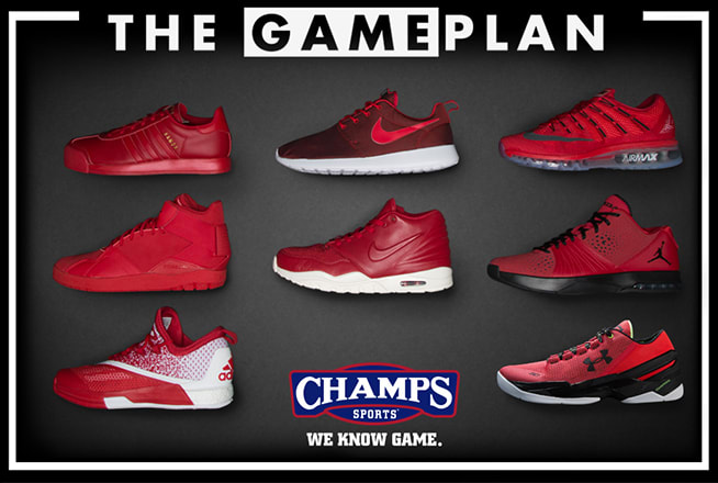 412118524 A Special Valentine s Day Red-Out Collection From the Game Plan by Champs  Sports