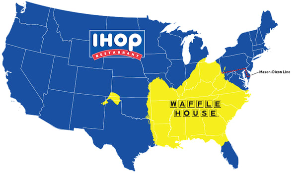Map Reveals Whether You\'re a Waffle House Person or an IHOP Person ...