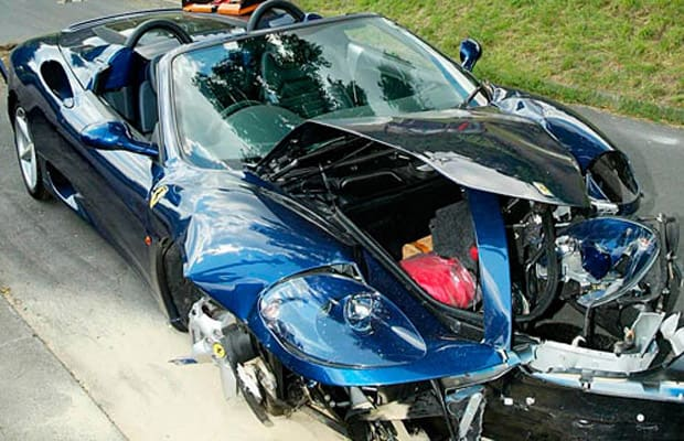 A History Of Celebrities Crashing Supercars Complex