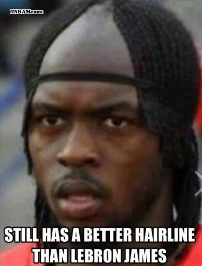 2 chaaaaaaainz the 50 meanest lebron james hairline memes of all