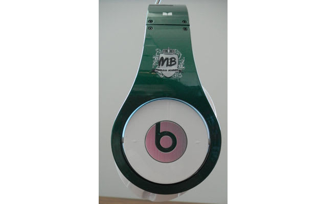 watch be88b c2dac We re not sure why the newest boy band to take over 106th   Park decided to  go with a pink and green colorway for their custom Beats by Dr. Dre.