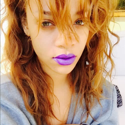 rihanna-instagram-selfie-purple-lips