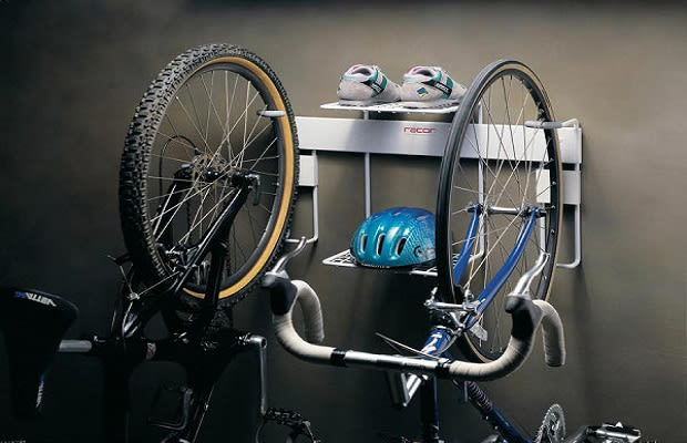 even though city dwellers tend to stack their possessions upward some may still prefer to spread their bikes in a slightly wider fashion - Vertical Bike Rack