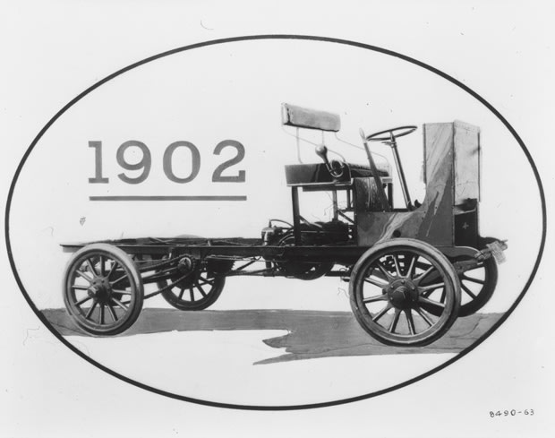 Before There Was A True Blue Gmc Pickup The Rapid First Truck From Max Grabowsky S Motor Vehicle Company Little More Than Seat