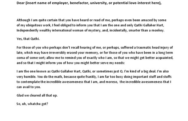 the im the man cover letter