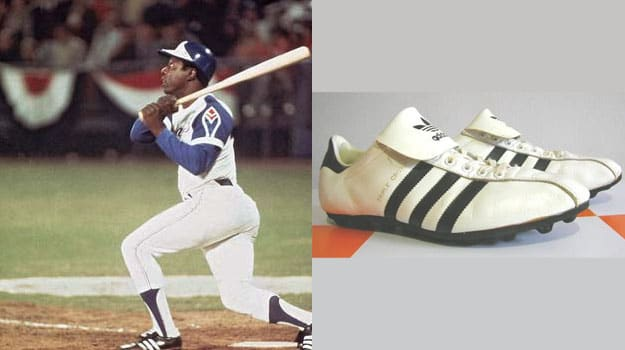 Hank Aaron in the adidas Triple Crown