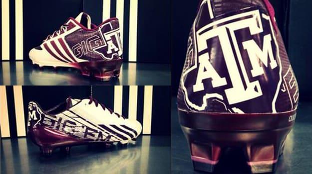 7edd0e28a65 Texas A M Aggies Show Off Custom adidas adiZero 5-Star 2.0 Cleats ...