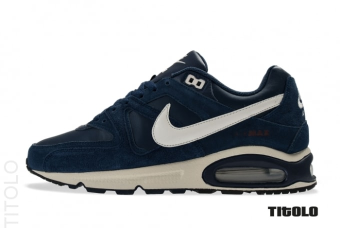 sports shoes 1b659 3106c Nike Sportswear has just dropped off a new Midnight Navy makeup of the Air  Max Command. The low-tops are done up in suede, nylon, and leather, ...