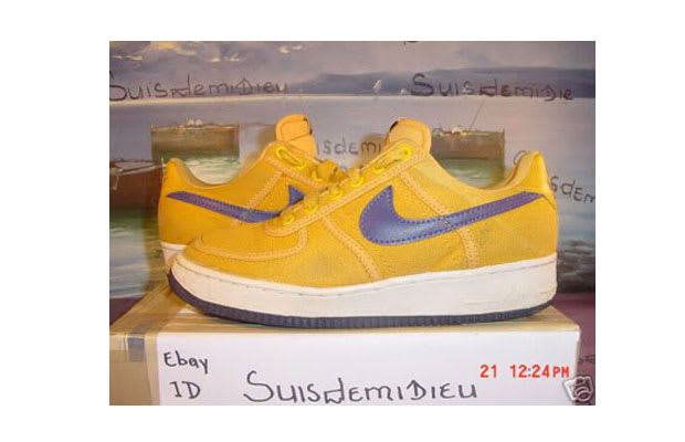 new arrival 2b616 b1400 Air Force 1 Low Canyon Gold -Night Blue