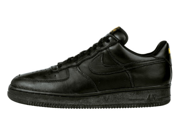 nike air force 1 low all black suede