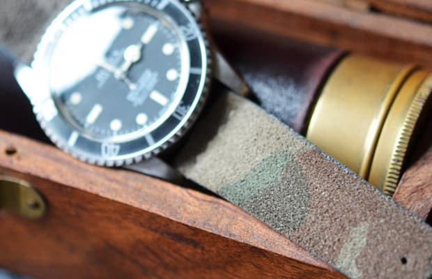 cf42cb705a4 Hodinkee Goes Next Level With New Camo Suede Watch Straps