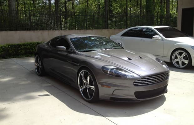 gallery: hines ward's aston martin dbs and mercedes-benz s550 on