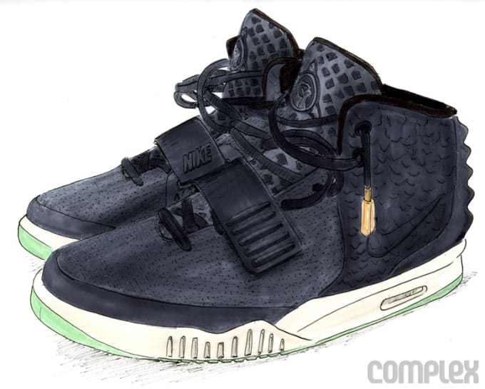6c4b0eb94ff7 COMPLEX SAYS  Nike and Kanye wanted the shoe to look like something a  warrior from the future would wear. Galleries Lists News Air Yeezy ...