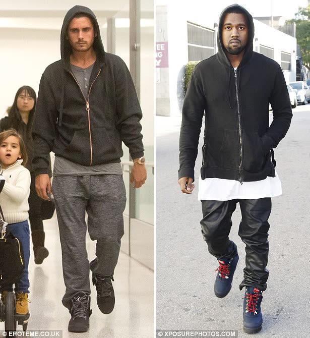 hoodies - 10 Ways Kanye West Influenced Scott Disick's ...