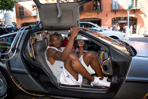 4d9605406927 Kobe Bryant Pulls Up in a Delorean to Release the