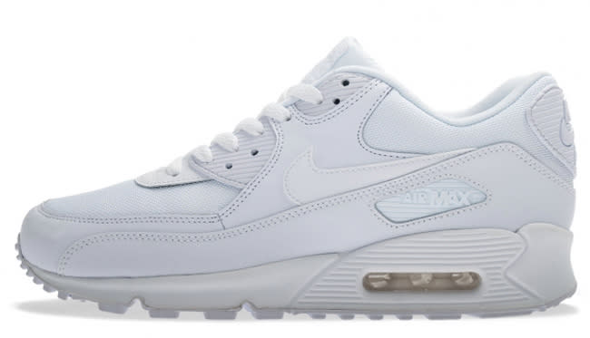 san francisco ae1f6 cec2c Nike thinks it s a go, as they have just let loose this Triple White  rendition of the Air Max 90 Essential. The clean kicks sport leather and ...