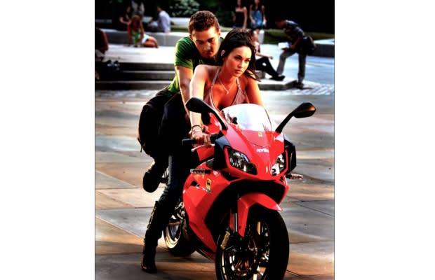 Transformers Revenge Of The Fallen 2009 Motorcycle Aprilia RS 125 Rider Megan Fox