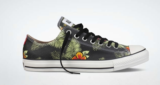 6fa395dd646aa3 Converse wants to say aloha with this new patterned release of the Chuck  Taylor All Star. The low-top edition has been done up in original canvas  form with ...