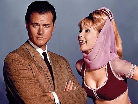 jeannie and tony nelson on i dream of jeannie the 25