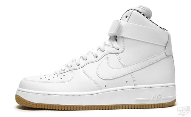 huge selection of b3a7c ffe21 White tumbled-leather upper, gum sole and a gingham lining on an Air Force  1 High  Yes, thank you. What better way to break in the spring than in a  fresh ...