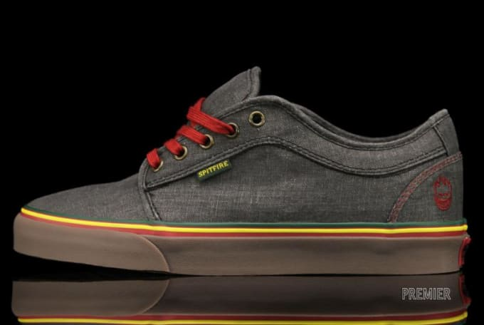 Spitfire and Vans link for a Rastafarian-esque take on the Chukka Low. The  skate digs feature a grey waxed canvas upper 6d0202d22
