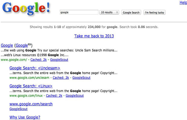 Go Back to 1998 With This Google Easter Egg   Complex AU