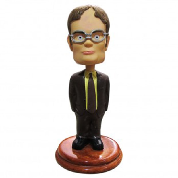 the office dwight schrute bobble head the 25 best. Black Bedroom Furniture Sets. Home Design Ideas