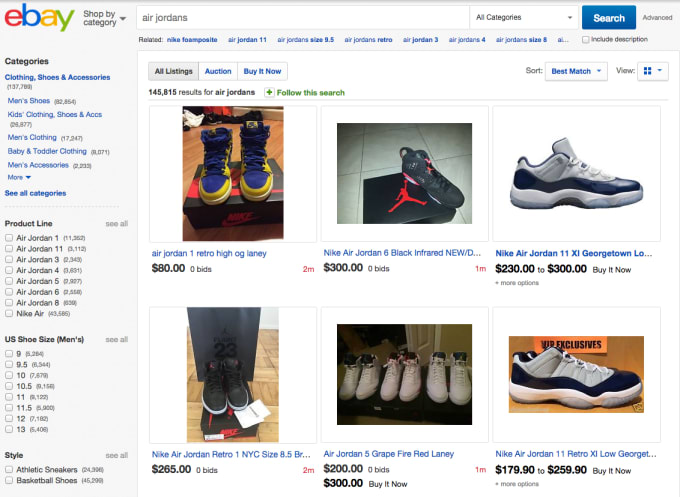 bb838173408d The online market place has become renowned for those trying to sell  whatever sneakers they have on hand. While eBay itself isn t known for  marketing ...