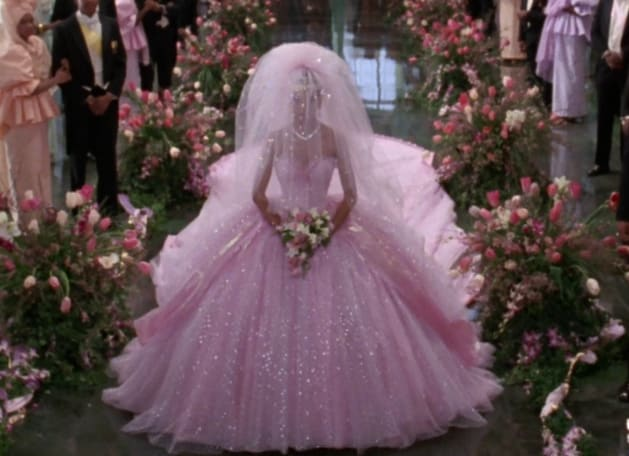 lisa 39 s wedding dress coming to america costume design
