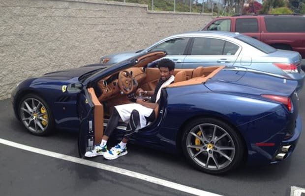 Derrick Rose showing his Bentley