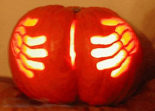 13 the 50 craziest carved pumpkins ever complex cheeky pumpkin pronofoot35fo Image collections