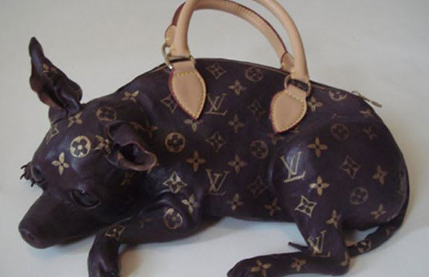 Louis Vuitton Trash Bags chihuahua shaped louis vuitton handbag | complex