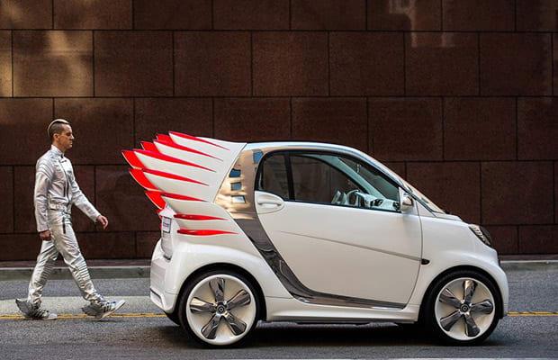 Jeremy Scott Put Wings On A Smart Car Complex