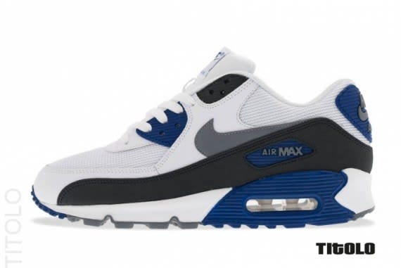 c518193cc9 ... Royal Blue – Black The Essential edition of Nike's Air Max 90 has  returned this month in a clean white ...
