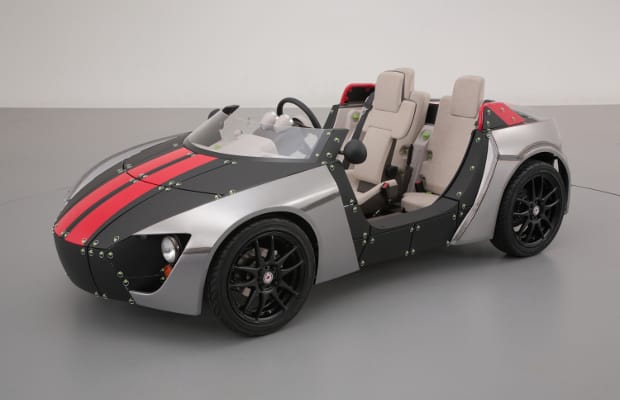 the massive japanese automaker has created this sick looking kids car called the camatte57s
